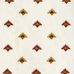 S3637 Paprika Greenhouse Fabrics, Yellow Fabric, Warm Colors, Earthy, Delicate, Pattern, Inspiration, Design, Red Peppers