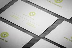 Clean and simple business cards templates, available for free download in PSD format with features 3.5 x 2 Inches dimensions, 300 DPI high resolution, and CMYK color settings.