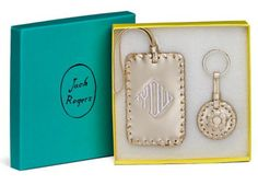 dc girl in pearls: monogram monday: jack rogers luggage tag