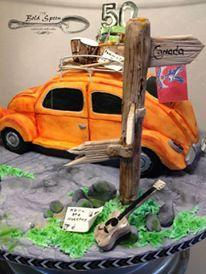 VW Beetle 50th Birthday Cake 50th Birthday, Birthday Cake, Celebration Cakes, Custom Cakes, Beetle, Spoon, Vw, Custom Design, Shower Cakes