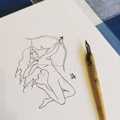 provocative-planet-pics-please.tumblr.com To happy to get back to drawing! Heres my fierce little Sagittarius woman  #sagittarius #firesign #fire #thearcher #archer #thecentaur #centaur #jupiter #starsigns #astrology #planets #illustration #art #drawing #sketchbook by marianne_illustration https://www.instagram.com/p/-_l9iWHkxv/