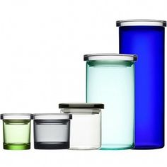Very practical indeed (Jars by iittala) Ceramic Tableware, Glass Ceramic, Kitchenware, Glass Containers, Storage Containers, Malibu Homes, Coloured Glass, Kosta Boda, Egg Holder