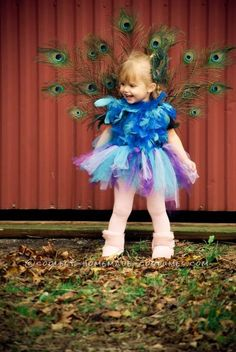Cutest Homemade Peacock Costume for a Toddler... This website is the Pinterest of costumes