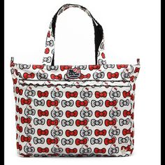 juju be Handbags - JuJuBe Hello Kitty Peek A Bow SuperBe Girl Diaper Bag,  Diaper e2b4887c41