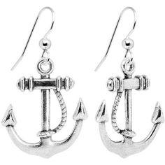 Nautical Anchor Dangle Earrings Body Candy. $4.99. Save 80%!