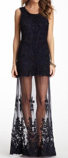 Black Lace Gown - gorgeous