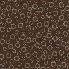 Brown and Blue Circles Fabric by the Yard | Carousel Designs $7.00/yd. Idea for dining room chairs