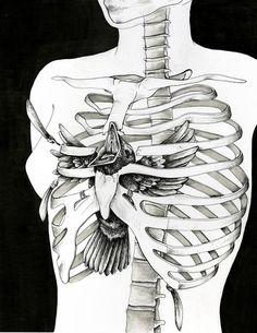 Skeleton illustration by Alejandra Alvergue - Skullspiration.com - skull designs, art, fashion and more