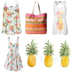 pineapple trend - summer 2014 fashion and art print