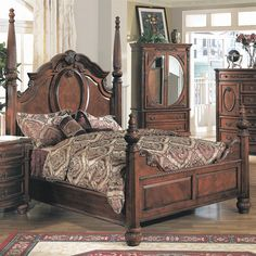 Shop Myco Furniture  MD1000K Madina Poster Bed at ATG Stores. Browse our beds, all with free shipping and best price guaranteed.