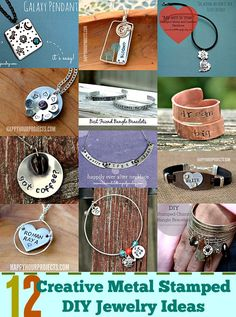 We've got a stunning round-up of 12 Creative Metal Stamped DIY Jewelry Ideas to inspire your creativity!