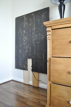 between you & me: Headboard Solution for my boys' room Wood Floor Stain Colors, Floor Colors, Wood Stain, Hardwood Floors, Flooring, Good Buddy, I Am Awesome, New Homes, Diy Projects