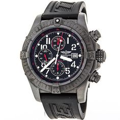 Breitling Super Avenger Blacksteel M13370 Limited Edition Automatic Mens Watch