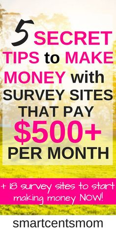 These survey sites are so easy and free to use to start earning money online! I love the extra tips for earning more with online surveys! survey sites l make extra money l work from home jobs l make money at home l passive income l side hustl Online Survey Sites, Online Surveys For Money, Earn Money Online Fast, Survey Sites That Pay, Earning Money, Earn Money From Home, Online Jobs, Way To Make Money, Paid Surveys