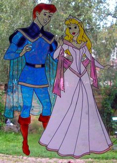 WICOART STICKER WINDOW COLOR CLING FAUX STAINED GLASS DISNEY AURORE PHILIPPE 1