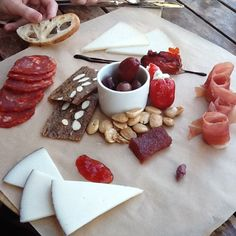 Spanish themed cheese board