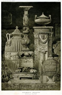 Fig. 11. Louis Jean Hulot, « Fragments antiques », dans L'Architecte, vol. 1-1906, pl. 1