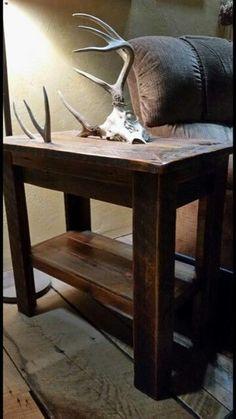 Convert Your Garage into a Man Cave - Man Cave Home Bar Deer Mount Decor, Deer Decor, Furniture Projects, Home Projects, Rustic Furniture, Diy Furniture, Garden Furniture, Deer Antler Crafts, Antler Art