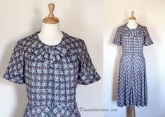 Vintage 50's Shirtwaist Dress / Miss Bershire