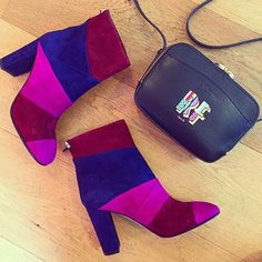 Rosie Fortescue loves her Fianna boots and Mariel crossbody bag #LKBennett