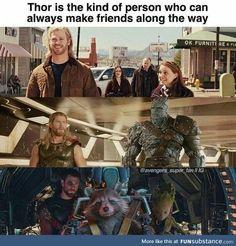 Be like Thor - Marvel Universe Funny Marvel Memes, Dc Memes, Avengers Memes, Marvel Jokes, Infinity War, Marvel Heroes, Marvel Avengers, Marvel Comics, Avengers Cast