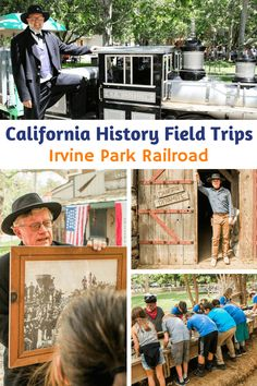 Attend An Irvine Park Railroad California History Field Trip - A few years ago, my family and I took a step back in time at the California History Education Prog - California Regions, California History, Early Learning, Kids Learning, Irvine Park, History Education, Community Events, Fourth Grade, Travel With Kids