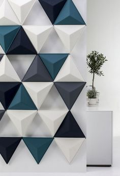 Felt acoustic panel / for interior organization / design / for offices AIRCONE by Stefan Borselius ABSTRACTA