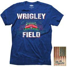 Chicago Cubs Wrigley Field 100 Years Triblend Logo T-Shirt - MLB.com Shop