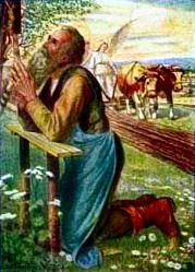 St. Isidore had deep religious instincts. He rose early in the morning to go to church and spent many a holiday devoutly visiting the churches of Madrid and surrounding areas. All day long, as he walked behind the plow, he communed with God.
