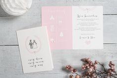 """50x romantische Hochzeitseinladung """"Ewig dein"""" von Schneider's Family Business auf DaWanda.com"""