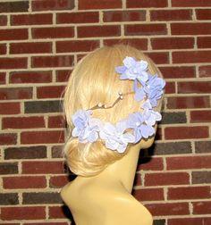 Purple Flowers Crown Purple Flowers Tiara Wedding by flowershair, $39.00