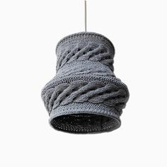 Unique cable knit lamp shade handmade home decor interior design   https://www.etsy.com/listing/221964978/cable-knit-lampshade-luuka-pendant-light