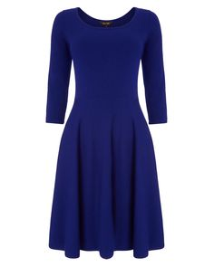 Phase Eight Hadley Fit and Flare Dress Blue