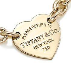 Return to Tiffany™ heart tag bracelet in 18k gold.