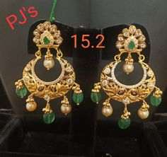Gold Designs, Gold Earrings Designs, Light Weight Gold Jewellery, Gold Jewelry, Designer Earrings, Crochet Earrings, Fashion Jewelry, Stairs, Blouses