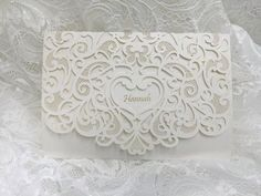Laser cut Lace Wedding Card with floral pattern, Best for Engagement Party, Baby Shower, Bridal Shower, Dinner Party Laser Cut Wedding Invitations, Wedding Invitation Cards, Birthday Invitations, Wedding Cards, Wedding Favors, Lace Wedding, Bridal Shower, Baby Shower, Wedding Card Design