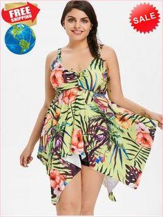 3686c55169a Best Prices Plus Size Tropical Print Handkerchief Tankini Set 2245669  HCsNjzOyZSFKbEpBov2d Cheap Sale  RoseGal.