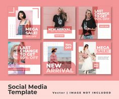 Social media instagram feed post banner ... | Premium Vector #Freepik #vector #banner #sale #social-media #instagram Flux Instagram, Social Media Instagram, Feeds Instagram, Instagram Grid, Instagram Frame, Instagram Posts, Layout Do Instagram, Instagram Post Template, Instagram Design
