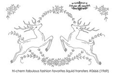reindeer embroidery pattern