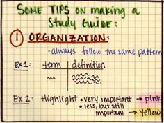 Some ideas on how to make a good study guide for a... | Study-Hack Part 2