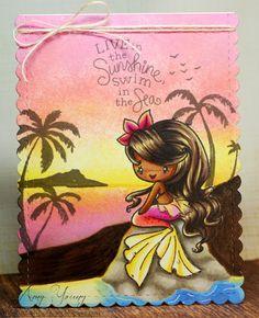Vintage Mermaid, Mermaid Art, Mermaid Paintings, My Little Pony Set, Fantasy Mermaids, Dengeki Daisy, Samurai Tattoo, Scrapbook Cards, Scrapbooking