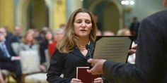 """Top News: """"CANADA POLITICS: Chrystia FreelandReplaces StéphaneDion"""" - http://politicoscope.com/wp-content/uploads/2017/01/Chrystia-Freeland-CANADA-POLITICAL-NEWS-HEADLINE-.jpg - Chrystia Freelandhas been named Canada's new top diplomat, replacing veteran politician StéphaneDion as foreign affairs minister in Prime Minister Justin Trudeau's first major cabinet shakeup.  on Politics: World Political News Articles, Political Biography: Politicoscope - http://politicosc"""