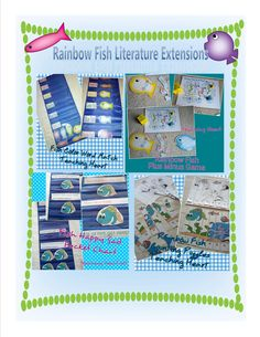 RAinbow Fish Literature Extensions for Math Reading Games Centers crafts Rainbow Fish, Rainbow Theme, Reading Games, Reading Activities, Beach Activities, Activities For Kids, Ocean Lesson Plans, Math Literature, Ocean Unit