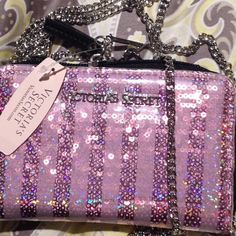 Ask for 10% off for .99 cents shipping Victoria secrets I phone 5/5s case and wallet. Has long chain to carry. When all you need to bring your phone money credit cards and I'd. Great when you are going out. Victoria secrets logo. Zippers with vs logo on zipper. Victoria's Secret Accessories Phone Cases