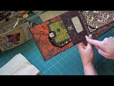 This is how I make my paper bag mini scrapbook albums. It includes how I attach a canvas cover to the album.  (c) Laura Denison The designs, pictures and instructions shown on this video are provided here for personal use only and may not be sold, reproduced or used for commercial purposes in any form without my written permission.