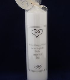 Today I will marry my best friend Wedding Candle by TheCandleandCardCo on Etsy