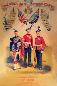 King's Own Scottish Borders Poster - Highlanders Military Art, Military History, Military Service, St Andrews Cross, Scotland Kilt, British Armed Forces, Highlanders, British Army, World War I