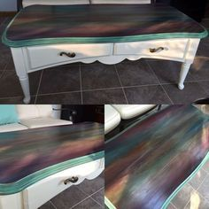 just a coffee table no way this is art spitchallenge, painted furniture, All Her Glory