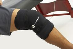 Apply ice or heat to your knee, with gentle compression and complete mobility.