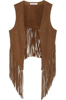 W118 by Walter Baker Lenny fringed suede vest | THE OUTNET